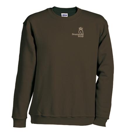 Sweatshirt Erwachsene, Gr. S-XXL, braun