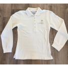 Poloshirt Damen Langarm, Gr. XS-L, beige