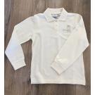Poloshirt Kinder Langarm, Gr. 92-164, beige
